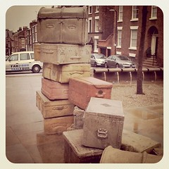 suitcases (URLgoeshere) Tags: england liverpool john paul george artwork northwest taxi north suitcase ringo mersey thebeatles suitcases fabfour merseyside