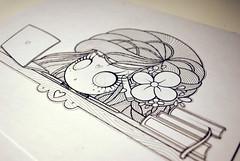 ArtemisaWIP (Anita Mejia) Tags: flowers art illustration dress purple traditional gothic characters cloth violeta ilustracion inks artemisa birdmadgirl chocolatita anitameja