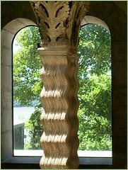 Waves (Walter A. Aue) Tags: newyork art church window museum european pillar wave medieval christian monastery column thecloisters walteraaue