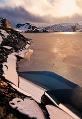 Winter's Grip (John & Tina Reid) Tags: autumn snow cold norway vik frozenwater mountainpass mountaintop travelphotography sognfjord jonreid tinareid httpnomadicvisioncom
