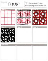 Tangle: Fleuri (Amaryllis Creations) Tags: pattern tangle penink zentangle