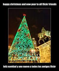 Madrid diciembre / Plaza del Sol (mdlphotography) Tags: madrid christmas happy navidad flickr espana greetings feliz plazadelsol castilla mdlp 2011 felicidades badmanproduction