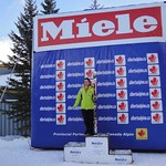 WMSC Kelly Steeves, 4th J1 and Most Improved at Nakiska Miele GS PHOTO CREDIT: Gregor Druzina