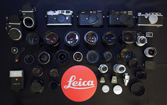Leica M & LTM Family (Dec 2011) (JOLEYE) Tags: camera leica black classic 35mm paint f14 iii summicron m8 f2 ttl summilux m6 asph 21mm f35 summaron leitz mlens lhsa 35cm