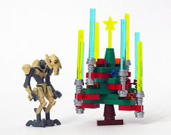 Day 23: A Grievous Christmas (Oky - Space Ranger) Tags: christmas xmas holiday tree star funny advent calendar lego general lightsaber wars clone grievous