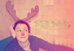 Merry Christmas...Rudolf! (Chiara De Bernardi) Tags: christmas me reindeer rednose io rudolf merrychristmas natale renna nasorosso i christmas2011 natale2011 larennarudolf rudolfthereindeer buonnatalemondo