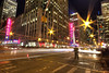Standing at the Intersection of Light Trails and Flares (gimmeocean) Tags: nyc newyorkcity ny newyork rockefellercenter lighttrails radiocitymusichall flares 6thave 51stst aveoftheamericas gorillapod