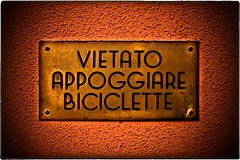 ... 220V1867 (*melkor*) Tags: city urban art bicycle sign wall warning geotagged experiment minimal minimalism conceptual melkor repetitaiuvant trashbit proibition backtotrashbitproject