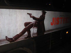Justified Bus Billboard Poster 3313 (Brechtbug) Tags: show park street new york city nyc snow bus hat television modern poster for us tv cowboy gun action cable billboard crime western type series writer shooting sheriff timothy script fx leonard avenue drama marshal 23rd detective givens elmore lawman 2011 justified raylan olyphant 12272011