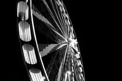 big wheel 2 (brianephotos) Tags: christmas blackandwhite blur lights spin luebeck riesenrad bigwheel2