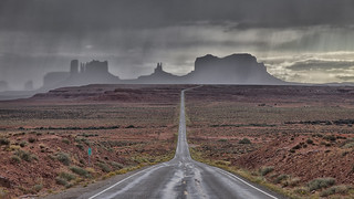 Monument Valley with Storm