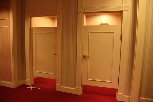 Victoria's Secret changing room doors