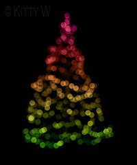 Christmas Tree (Kitty W) Tags: christmas tree lights colours bokeh christmastree festiveseason 112picturesin2012 112in2012 111christmas