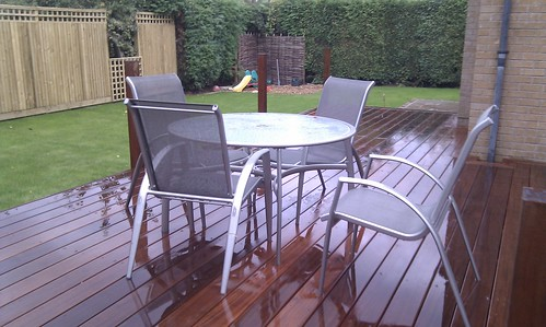 Hardwood Decking Alderley Edge - Modern Family Garden. Image 13