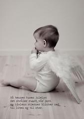 this years christmas card (Ina B Robøle) Tags: christmas baby girl angel wings engel jul jente vinger