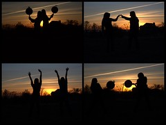 [172/365] (~songanddancer~) Tags: friends sunset 3 love collage hands heart silhouettes pj 365 fryingpans