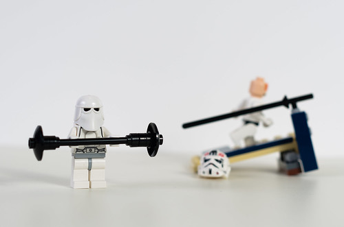 white 50mm exercise stormtrooper gym treadmill 152 hikey dumbell newyearresolutions d7000lego