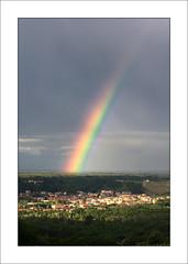 Arcobaleno su Romagnano Sesia (beppeverge) Tags: light italy color canon geotagged photography eos photo rainbow europe italia photos  arcobaleno valsesia romagnanosesia beppeverge