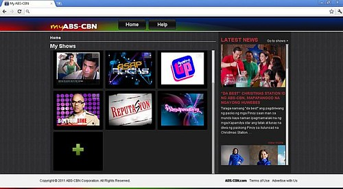 My ABS-CBN_Home page_Latest News