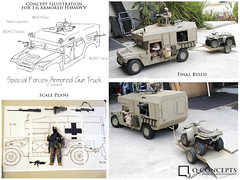 HMMWV Design & Fab (Q Concepts Design & Photography) Tags: actionfigure 16 hummer hmmwv 12inch hummvee