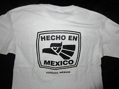 "Hecho En Mexico Tijuana Mexico, white T-shirt back bought from a shop on Avenida Revolucion aka "" The Revo "" in Tijuana Mexico (RYANISLAND) Tags: travel art tourism shop shopping mexico town photo store folkart image photos folk traditional bordertown border images collection mexican souvenir gifts gift momento buy tijuana tradition stores mx collect tj collector mex stockphoto buying keepsake tijuanamexico stockimage tijuanamex tijuanamx"