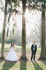 Amongst trees (ZekaG) Tags: california park trees wedding sunset white nature standing photography groom bride evening day photographer shadows dress silhouettes suit sacramento tux lixxim
