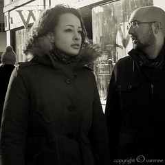 debating the question (EG documentary photography) Tags: london couple chelsea discussion