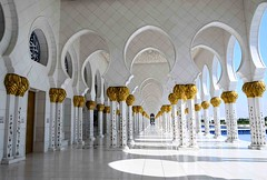 Light & Shadows of Marble Pillars in Sheikh Zayed Grand Mosque, Abu Dhabi U A E (mamasain) Tags: blue white art tourism yellow architecture modern gold dawn hotel twilight dubai contemporary ngc fine uae mosque carving zayed abudhabi hour balance hotels oman cruises minarets islamic luxurious   sheikhzayedgrandmosque szgmc shaikzayedgrandmosque
