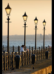 Ahhh,Venice................ (Chrisconphoto) Tags: sunset liverpool canon golden lamppost lamps pierhead goodlight