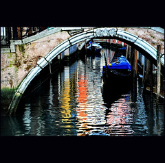 and again... (klaus53) Tags: venice colors reflections nikon ponte gondola venezia colori riflessi blinkagain