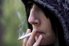 Tobacco Kills (Nebulus Photographie) Tags: girl hat nose cigarette smoke fingers smoking tobacco