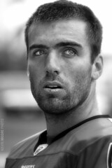 Joe Flacco - Baltimore Ravens (crabsandbeer (Kevin Moore)) Tags: portrait bw sports face football eyes nfl quarterback joe baltimore athlete ravens flacco joeflacco