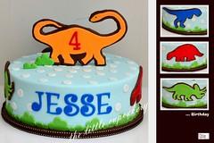 Dinosaur Birthday! (Klaire with a Cake) Tags: birthday cake jesse dinosaur little 4th tlc cupcakery klairescupcakes