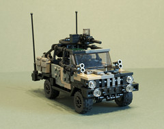 "C404 ""Black Dog"" (2) (Aleksander Stein) Tags: light storm volvo lego military special vehicle operations purpose patrol multi commando iveco wolfhound sentry armoured tactical ndc rws c404 m226 ampv"