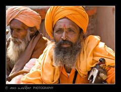 On the Streets of Jaipur, India 10 (SpiritStar) Tags: orange india man male asia colourful jaipur
