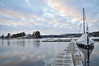 in between (Grey travel) Tags: winter sky lake snow color water norway clouds sailboat jetty scape telemark ginordicjan12