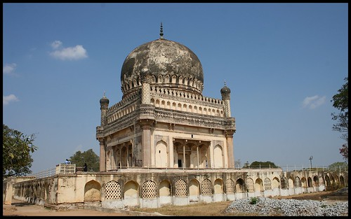 Tomb of Muhammad Qutub Shah, founder of Hyderabad city. One of his begums (the former Bhagya) was named Hydera