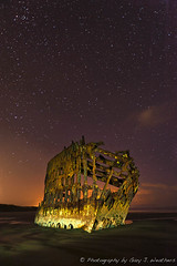 Peter Iredale Under the Stars (Gary J Weathers) Tags: oregon peter pacificocean shipwreck iredale nikond700 garyjweathersphotography