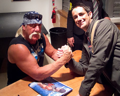 Meeting Hulk Hogan (simononly) Tags: uk england london tv action live wrestling sting arena impact hulkhogan taping challenge wembley tna totalnonstopaction