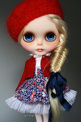 ~ Babette ~ (GBaby - super busyyyy) Tags: eye doll hand ooak painted chips mohair blythe custom collaboration 73 braid fishtail gbaby reroot bestdresseddoll violetpie littleparisiangirl anayalastudio