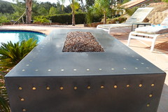 Luger Fire Pit-196 inlayed 9mm shell casings (da squash) Tags: concrete concreteart concretedesign concretefireplace customconcrete fiberreinforcedconcrete concretefirepit gfrcconcrete