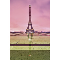 Paris, la Tour Eiffel (Zed The Dragon) Tags: city morning bridge light sunset sky paris france reflection building skyline architecture night skyscraper 35mm french landscape geotagged effects photography lights iso100 photo europe long exposure flickr cityscape tour shot minolta photos sony capital f100 eiffel images full reflet ciel frame esplanade getty palais fullframe alpha nuit postproduction sal zed gettyimages 2012 francais lightroom chaillot historique effets storia parisien flickrs 24x36 0sec a850 sonyalpha hpexif flickraward concordians 100commentgroup dslra850 alpha850 zedthedragon mosaique2012a