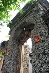 Very old door with energy saving bulb (camerashy75) Tags: bali holiday indonesia island tropics bungalow candidasa watergardenhotel