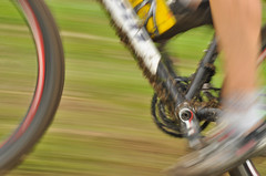 MTB nel dettaglio (sandro visintin) Tags: autumn mountain blur grass bike speed movement mud erba olympia movimento panning autunno velocità fango pedali sfocatura