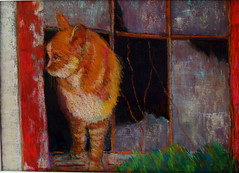 Barn Cat (Marj Morani) Tags: paintings shore marj eastern morani