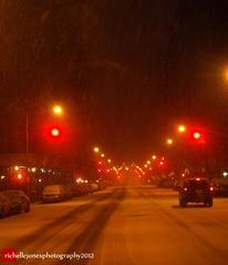 Heading UpTown on West End Avenue... (Richelle D. Jones) Tags: newyorkcity snow upperwestside snowfall westendavenue olympuse520 newyear2012 richellejonesphotography january212012