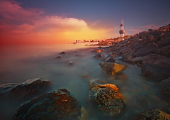 Kuwait tower (mhels_13) Tags: sunset seascape kuwaittower kuwaitsunset ramilsunga