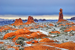 Contrasts (James Neeley) Tags: winter landscape utah arches redrock archesnationalpark hdr 5xp jamesneeley flickr24