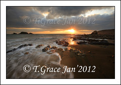 2097  Sunset Kilfarrasy Beach Co Waterford (jonestown_pic /Tom GracePhotography.com) Tags: ireland sea water sand sunsets beaches sunrises waterford kilfarrasy coppercoast carrickcameraclubmember tomgracegracephotographycom