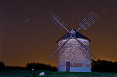 Windmill (PetrSk) Tags: old nature architecture night czech pentax moravian startrails pentaxart